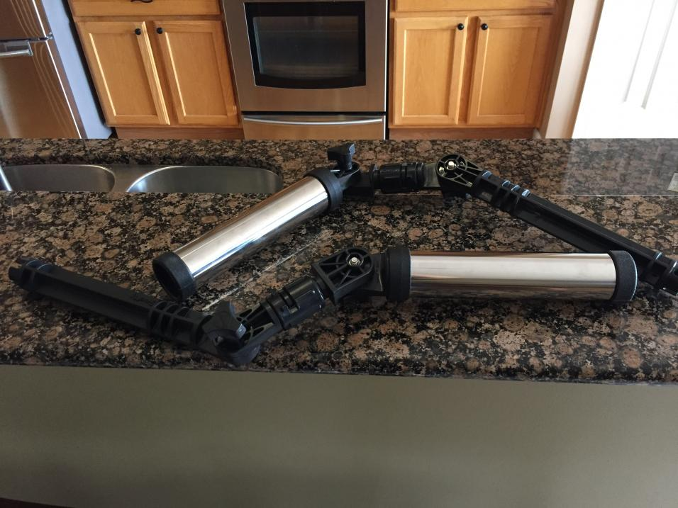 Two Scotty 469 Chrome Rocket Launchers with Scotty 453 Gimbal Adaptersw/Gear Heads-img_0986-1-jpg