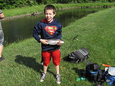 Super Kid with Super Fish
