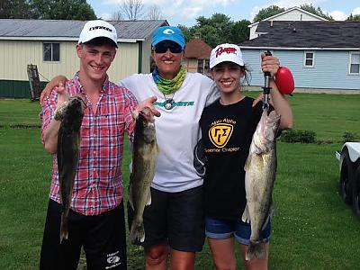 Jared, Captain Juls and Anna fishing on 6/21/15 by Walleye_Rick in Main Album