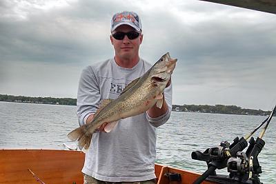 Daves Lyman boat walleye.