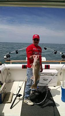 My brother David and a 29 inch walleye. by Fishin Crazy in Main Album